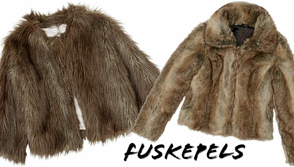 dca0f537 TRENDY I FUSKEPELS: Moteriktige vinterjakker fra henholdsvis Monki (kr 800)  og LIndex (