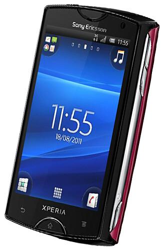 LITEN OG RIMELIG: Sony Ericsson Xperia Mini er rimelig, liten og lynrask.