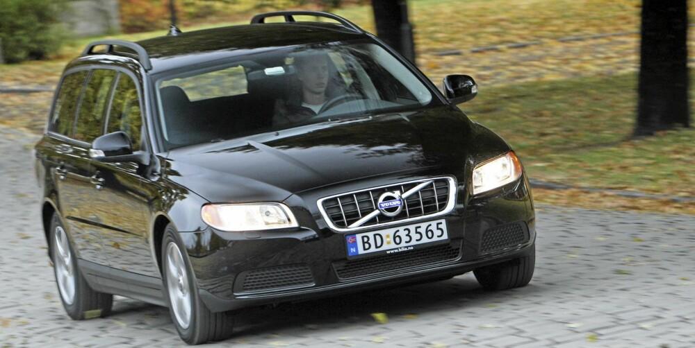 LITE VERDITAP: Volvo V70 har hatt et lite verditap. Foto: Egil Nordlien