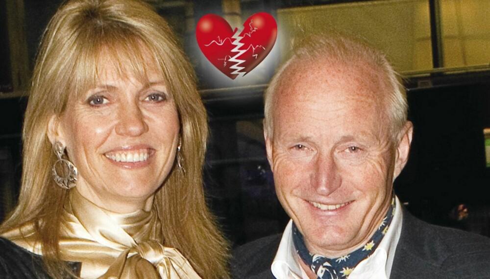 SLUTT: Christian Ringnes og kona Denise bryter leir.