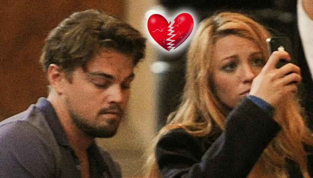 SKULLE IKKE SLUPPET TAKET: Leonardo og Blake hadde en kort, men minneverdig romanse.