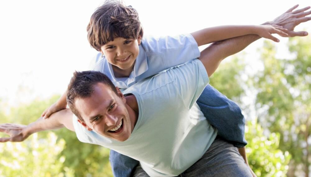 GØY MED PAPPA: Her er ti forslag til aktiviteter du kan gjøre sammen med barnet ditt.