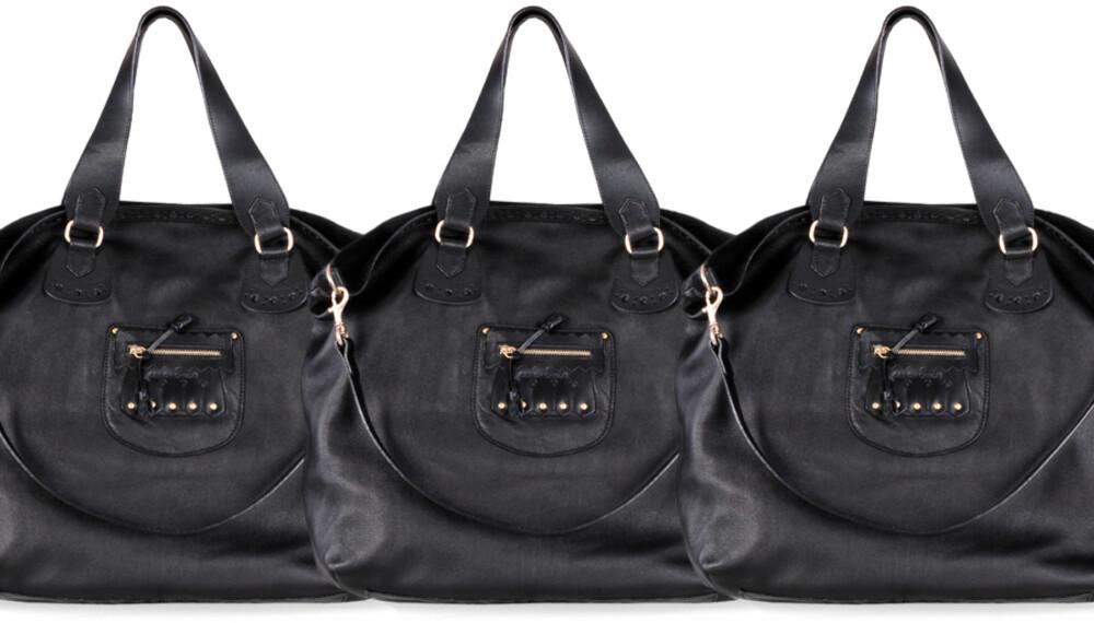 VINN DESIGNERVESKE: See by Chloé Large Black Leather HiLo Shoulder Tote har en verdi på 4400 kroner.