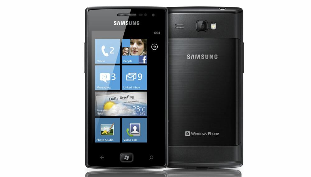 WINDOWS: Samsung Omnia W kjører siste versjon av Windows Phone 7, kjent under kodenavnet Mango.