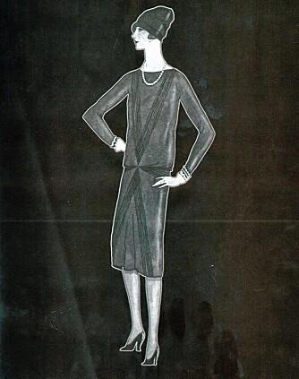 DEN ALLER FØRSTE: Den første tegningen av den lille sorte fra franske Vogue i 1926.