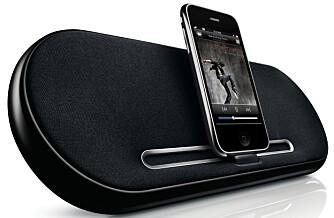 FOR iPHONE/iPOD: Philips Fidelio 7500 - høyttalerdokking for iPhone/iPod. Liten, bærbar, har batteri. Verdi kr 990. Denne kan bli din.