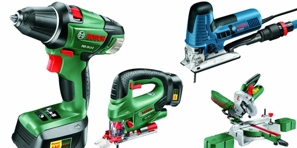 VERKTØY: Bosch gir deg verktøyene du trenger. Delta i vår julekalender og noe av dette kan bli ditt!