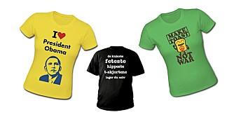 PERSONLIG DESIGN: Velg mellom de mange motivene, eller design dine egne motiver. De kuleste t-skjortene lager du selv.