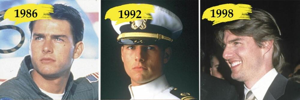 UNG OG LOVENDE: Tom Cruise gjorde etablerte seg som A-listet Hollywoodstjerne på slutten av 80- og første halvdel av 90-tallet,blant annet med storfilmene «Mission Impossible» og «Jerry Maguire».