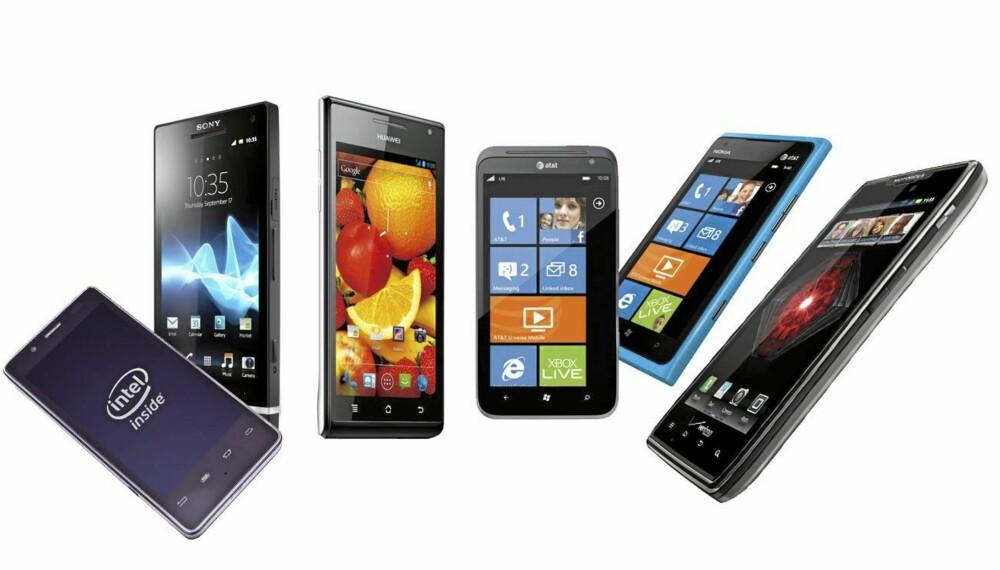 CES-NYHETER: Det ble lansert en rekke nye mobiler under CES i Las Vegas denne uken.