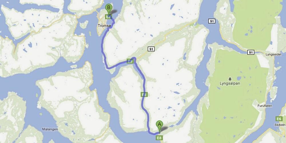 Lavangsdalen og Tromsøysundtunnelen i Troms.