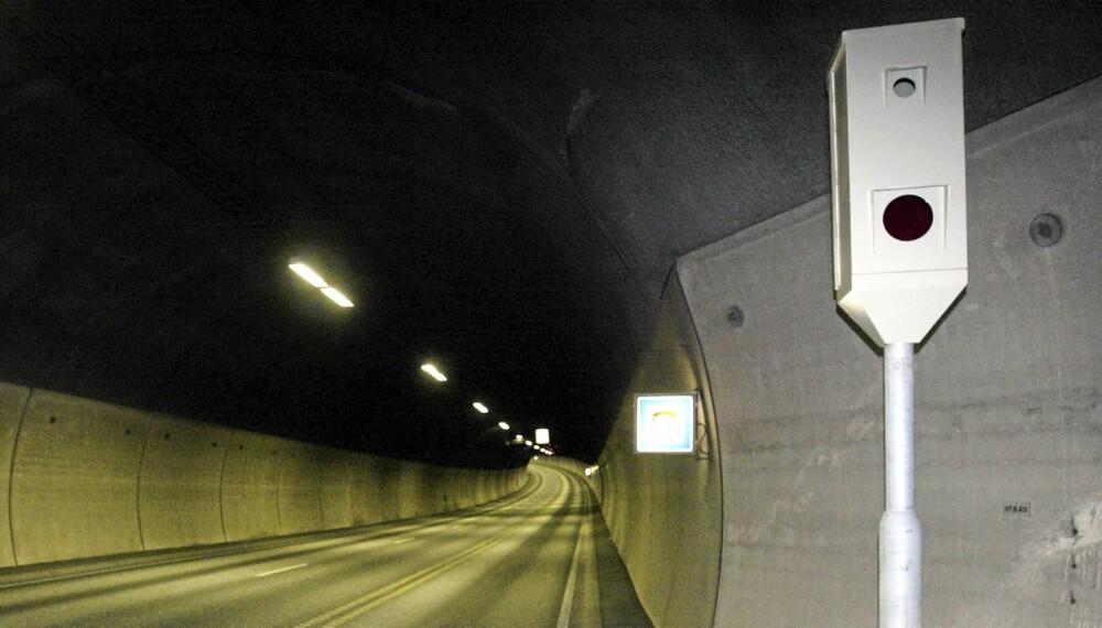 TUNNELSYN: Flere tunneler skal utstyres med streknings-ATK, blant annet fordi det er vanskelig for politiet å utføre kontroller i tunnelene. Foto Knut Falch/SCANPIX