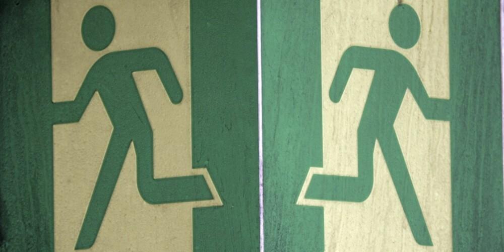 FØLG SKILTENE: Det er viktig å handle rasjonelt, om du havner i en tunnelbrann. FOTO: Egil Nordlien HM Foto