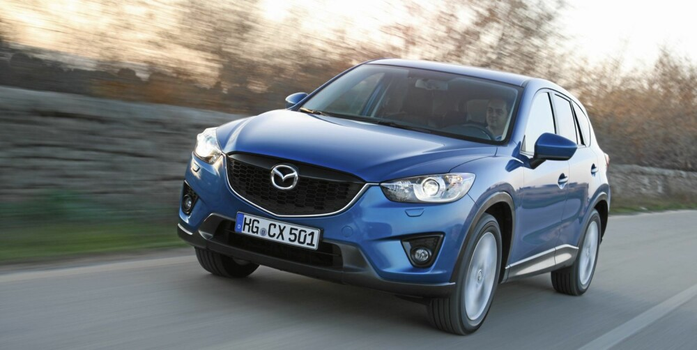 UTFORDRER: Mazda CX-5 skal ta opp kampen med de etablerte kompakt-SUV-ene.