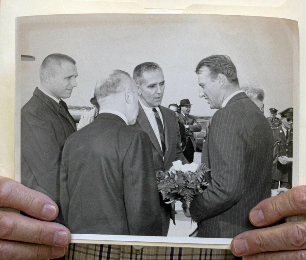 MAD MEN-STIL: Kong Harald - daværende kronprins - besøkte Mayo-klinikken i Rochester i 1965.