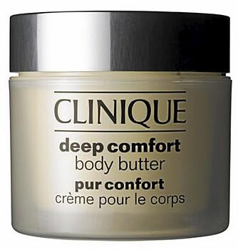 Clinique har fjernet parabenene i sine produkter. Clinique Deep Comfort body butter 275 kr.