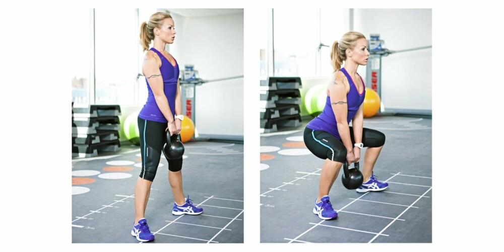 3. BREDBEINT KNEBØY: Rumpe, lår og mage/rygg.