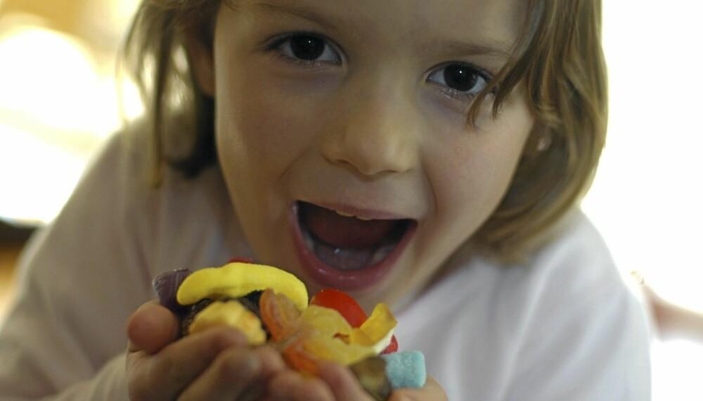 Skal barna få lørdagsgodt? Foto: Colourbox.no