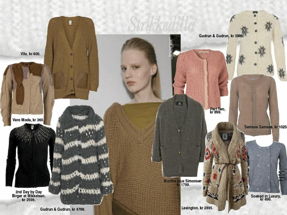 Strikkejakker kommer i utallige farger og fasonger. Her ser du et utvalg av sesongens deiligste jakker.