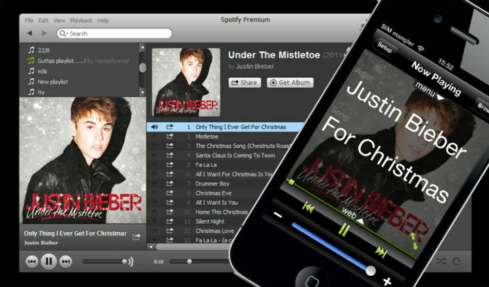 SPOTIFY: Med denne norskutviklede appen kan du styre Spotify på PC-en mens du sitter i sofaen.
