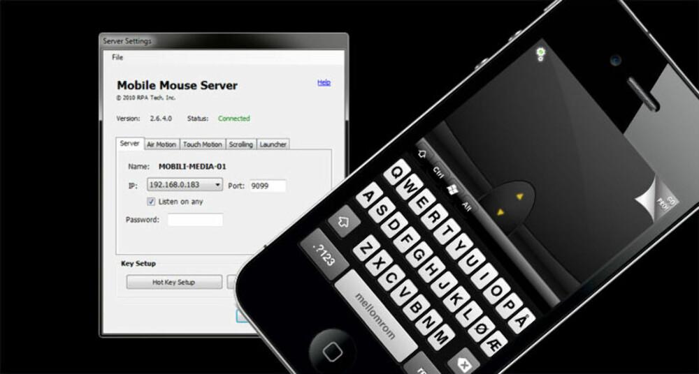 MUS: iPhone kan fungere som mus og tastatur til PC-en din.
