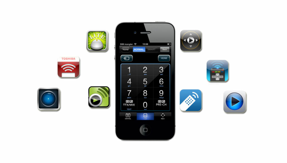 FJERNKONTROLL: Din iPhone eller iPad kan fungere som fjernkontroll til TV, PC og programmer som Spotify.