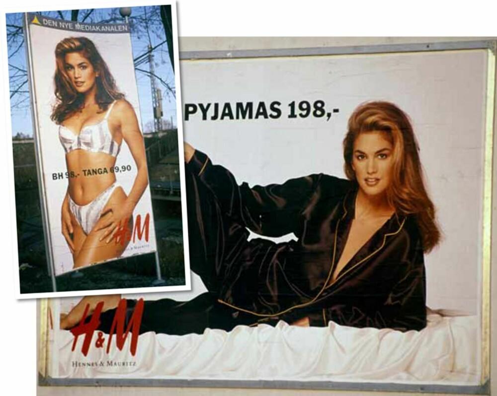 CINDY CRAWFORD: I 1991 var det supermodell Cindy som forførte hele Norge i silkepysj og undertøy.