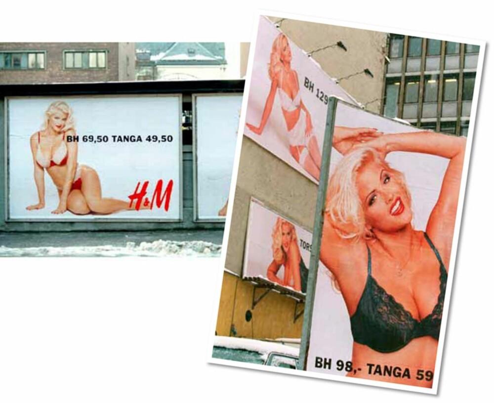 ANNA NICOLE SMITH: Formfulle Anna Nicole var tidligere Playboy-modell, og ga H&M-undertøyet bein å gå på.