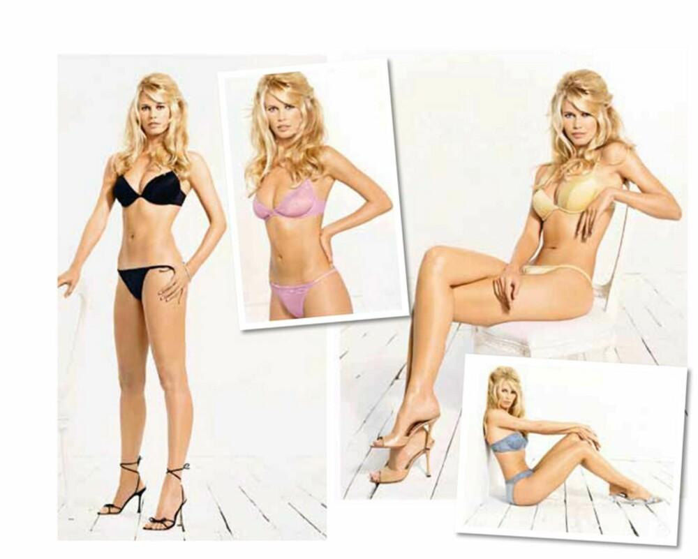 CLAUDIA SCHIFFER: I 2000 var det sexy Claudia som frontet H&Ms store undertøyskampanje.