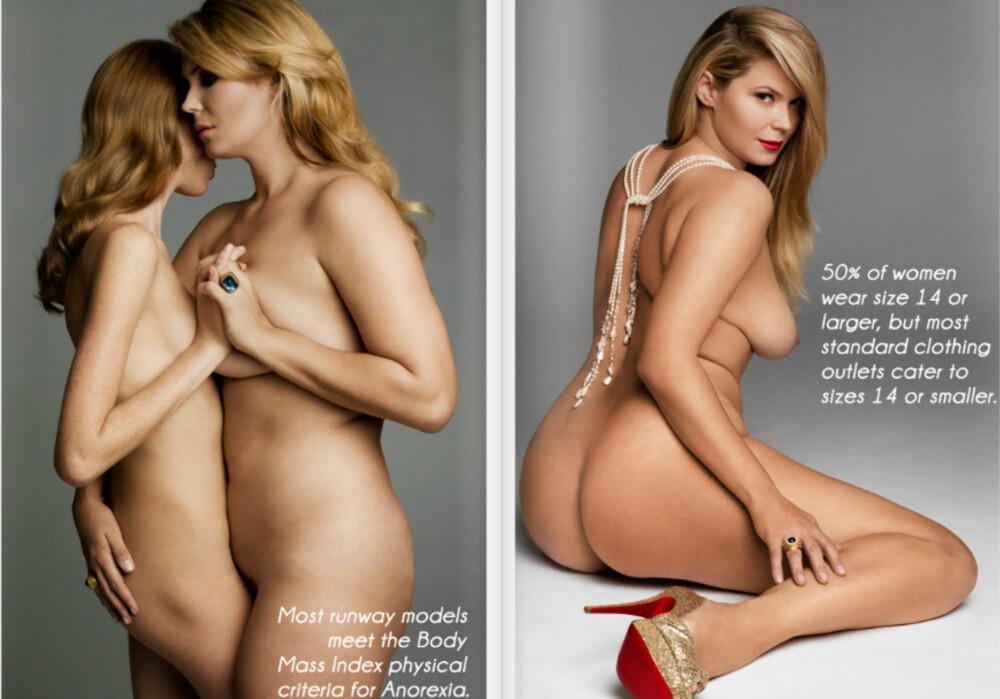 ULIKE STØRRELSER: Det blir stadig større forskjell på størrelsen på gjennomsnittskvinnen og størrelsen på modeller.