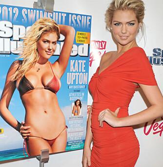FLOTT OG FORMFULL: Den unge modellen Katie Upton fikk pryde den prestisjetunge forsiden til Sports Illustrated Swimsuit Edition i år.