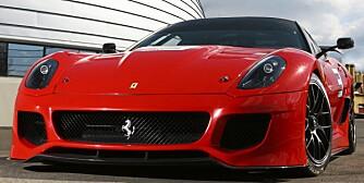 La Ferrari 599XX fotografata in Pista a Fiorano presso l'edificio della Logisitica GES