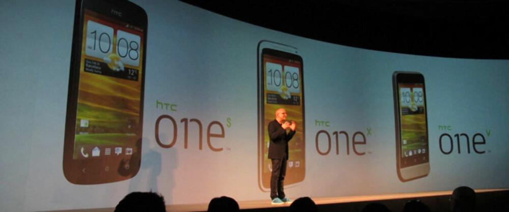 NY SERIE: HTC lanserte tre nye telefoner i sin nye One-serie.