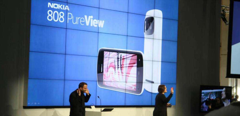 VANVITTIG KAMERA: Nokia 808 PureView har kamera med intet mindre enn 41 megapiksler.