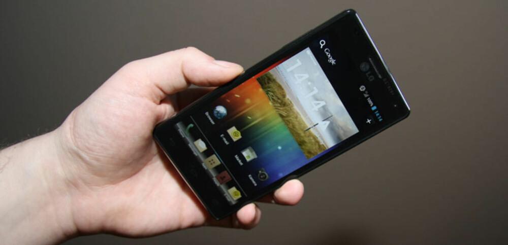 KRAFTKAR: LGs nye Optimus 4X HD har rask firekjernet prosessor og skarp skjerm med HD-oppløsning.