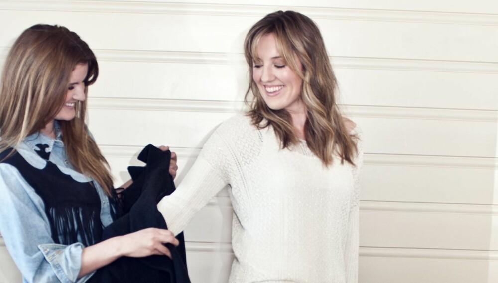 STYLINGHJELP: Christina Yvonne fikk hjelp av stylisten til å sprite opp garderoben.