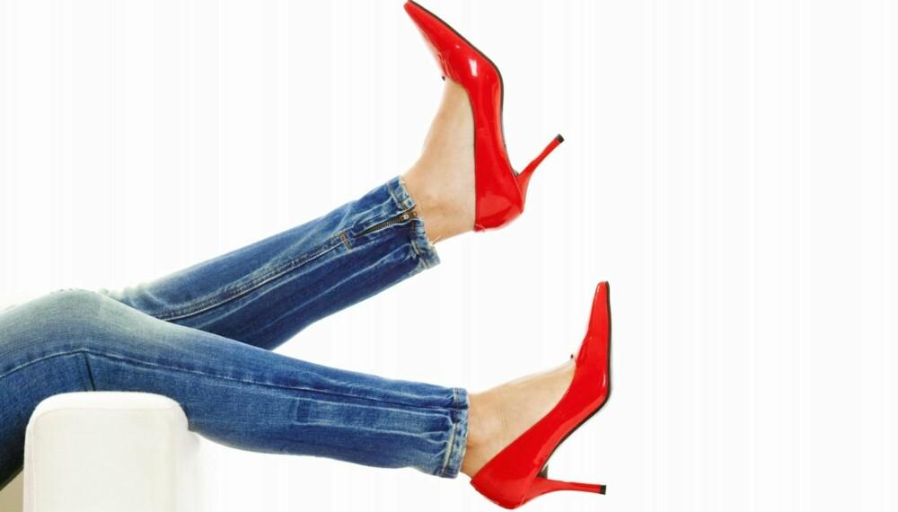 VIDER SEG IKKE UT: Ikke sats friskt på at skoene vider seg ut når du kjøper....
