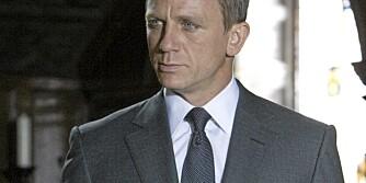 MANN FOR SIN DRESS: Alt sitter som det skal på James Bond. Spilt av Daniel Craig.