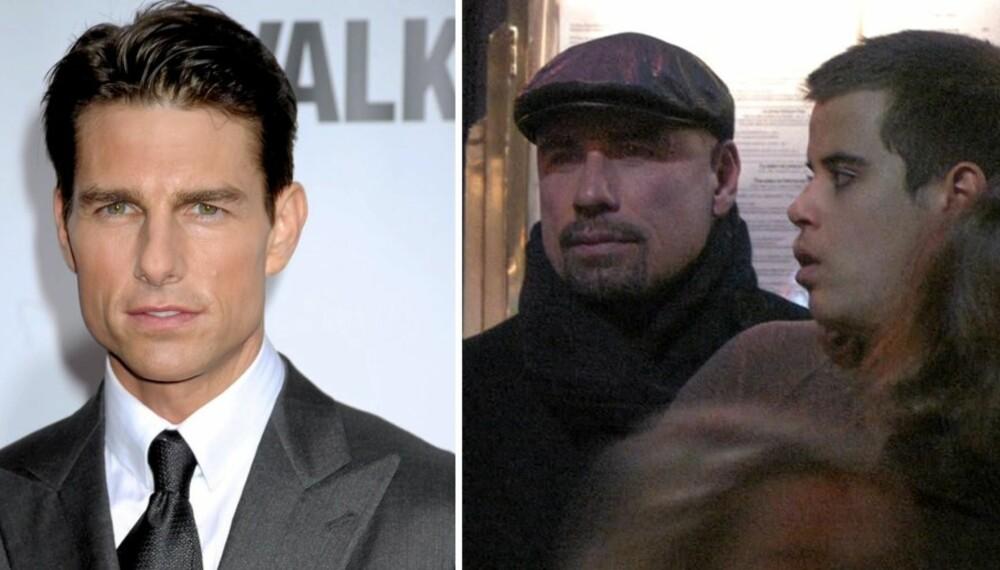 SØRGER: Tom Cruise føler med sin gode venn John Travolta etter sønnen Jetts dødsfall