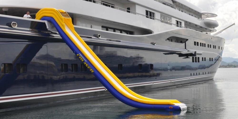ENKEL SKLIE: Her sere dere en såkalt Non Leg Support-sklie, som passer yachter der sklia kan forankres lavere enn fem meter. Foto: Freestyle Cruiser