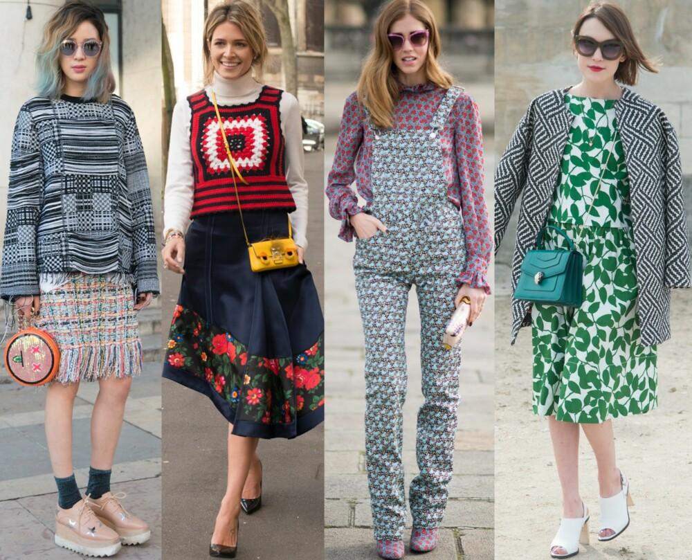 GATEMOTE: Fashionistaene elsker å blande ulike mønster, både på mer diskré og vågale måter.