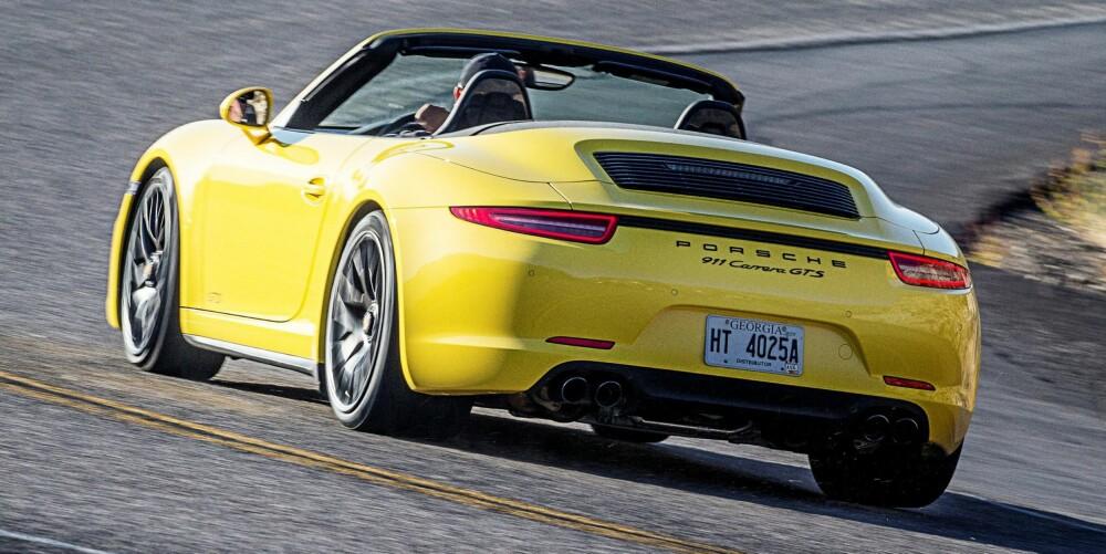 PORSCHE: Vi ville valgt GTS-en med manuelt gir. FOTO: Porsche