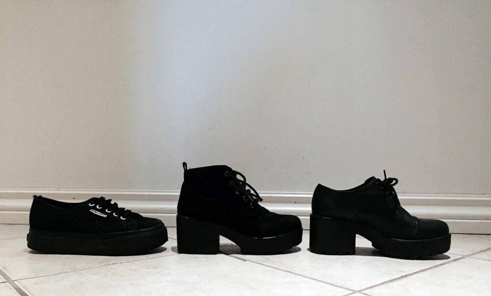TYKKERE SÅLE: Hverdagssko som du skal gå i ofte, bør ha tykkere såler med god demping. I dag har både sneakers og andre sko dette.