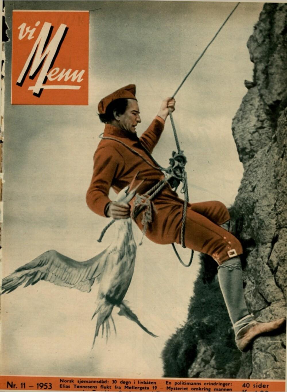 Forsiden på nummer 11-1953, hvor Olav Kvaalen delte sin historie om Elias Tønnesen.