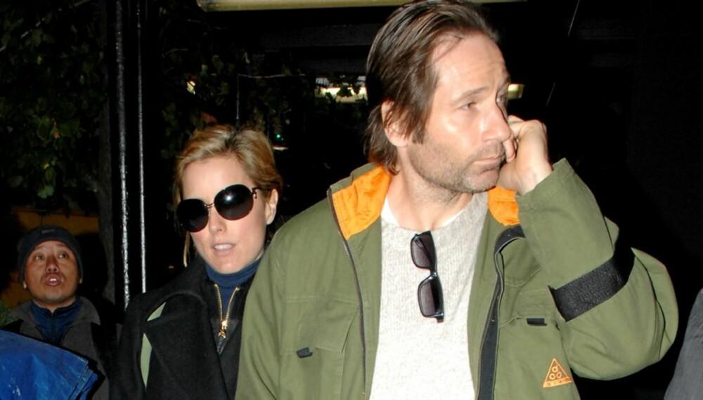 SEPARERT: David Duchovny og Tea Leoni har vært separert i flere måneder. Blir det skilsmisse?