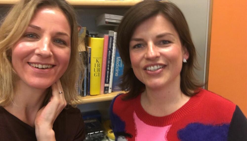 RØD I KINNENE: Guri Solberg spurte gynekolog Agnethe Lund alt vi vanligvis ikke tør å spørre om ...