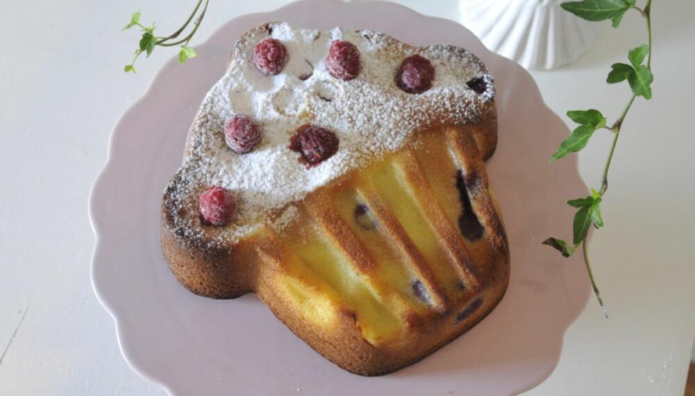 ENKLE KAKEOPPSKRIFTER FOR BARN: Flat cupcake er én av tre kakeoppskrifter som er en fryd for øyet, og som barna selv kan lage. Foto: Anne Brith Davidsen.