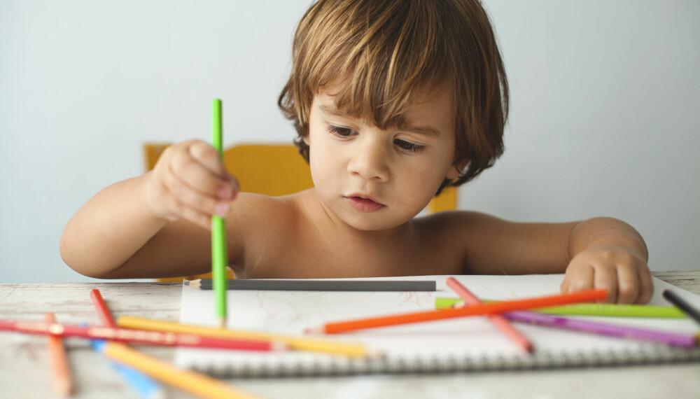 MOTORISK UTVIKLING HOS BARN: Hvor raskt barnet lærer å gå, hoppe, sykle eller tegne, avhenger i stor grad av hva du som forelder tillater barnet å gjøre i hverdagen. Foto: Gettyimages.com.