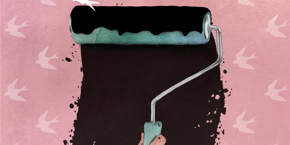 Litt svartmaling kan gjøre godt. Illustrasjon: Hanne Løvdal/Lovedales.no