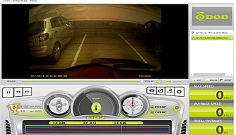 PROGRAMVARE: Den medfølgende programvaren kan brukes for å se gjennom egne opptak.
